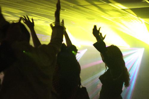 Party guests dancing