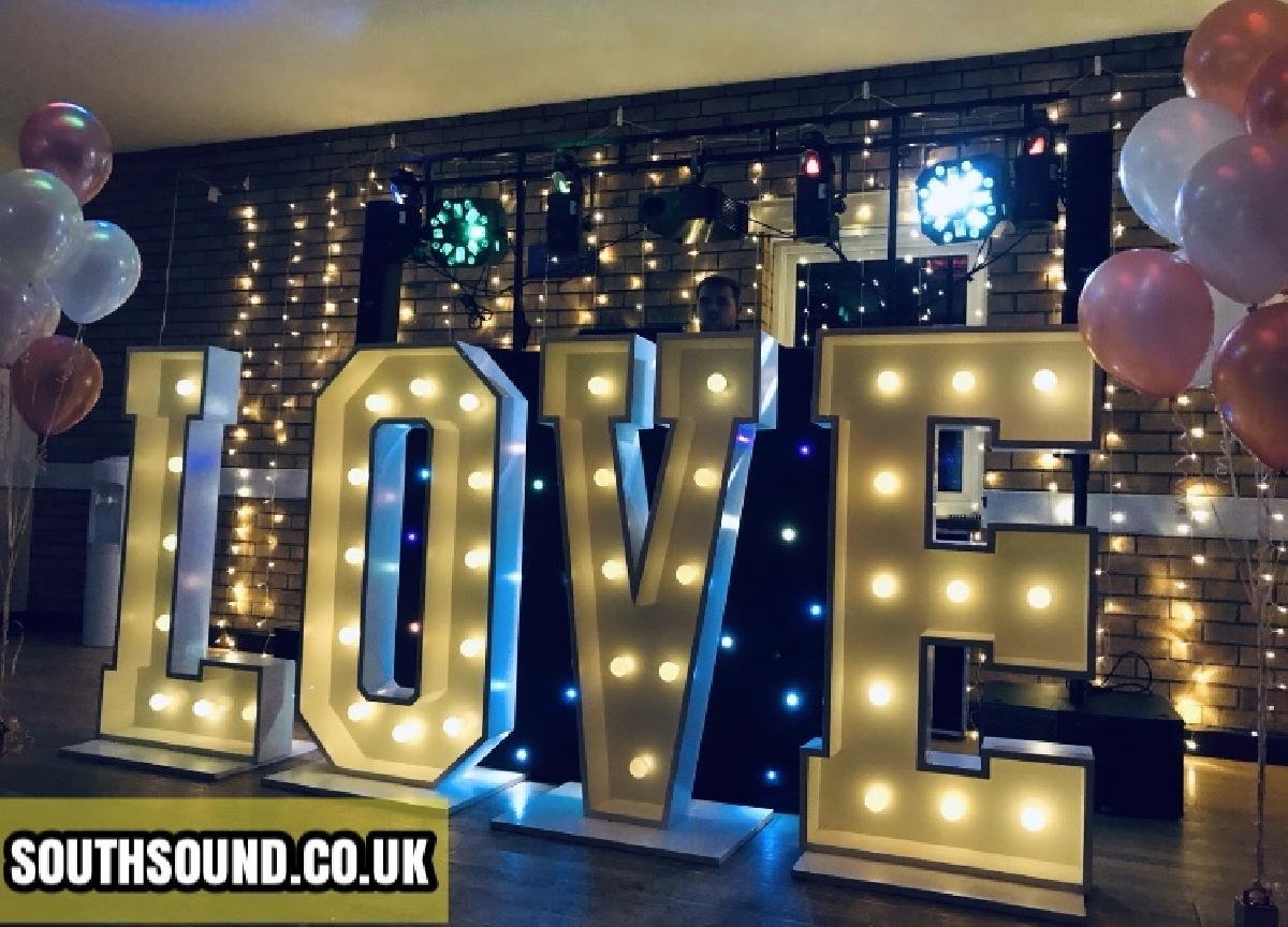 SouthSound Disco Kent Wedding Setup with Our DJ Dave