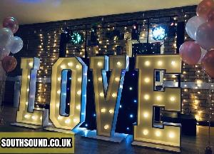 SouthSound DJ Dave Wedding Disco with Love Letters.