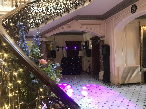 Wedding Disco Setup at Mount Ephraim Gardens in Kent