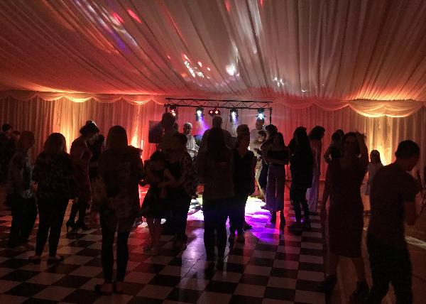 Guests dancing at a joint birthday party in Chatham Kent