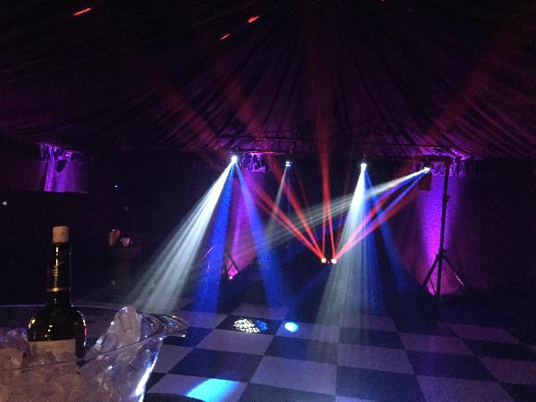 Marquee set up.