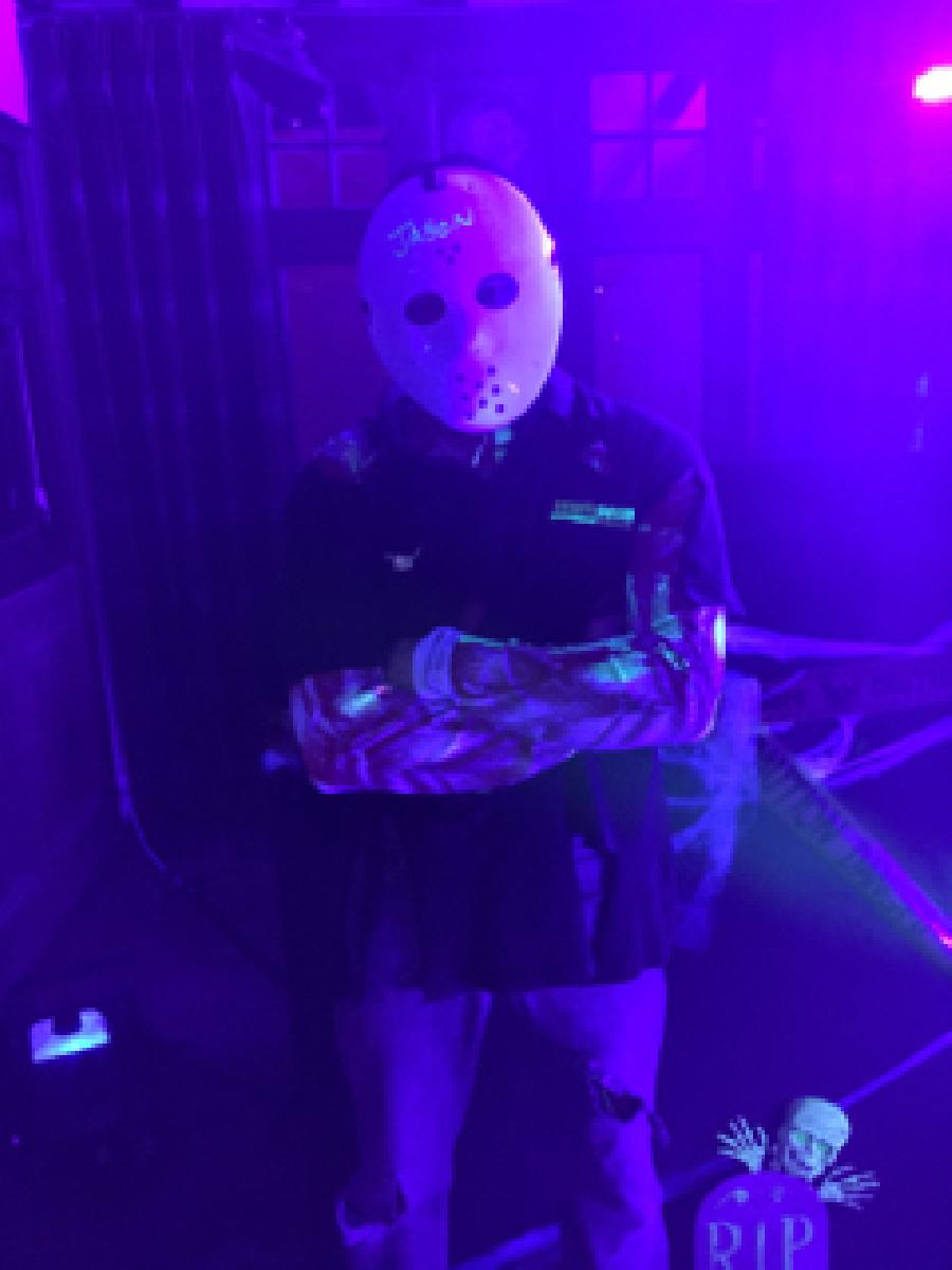 DJ in Fancy dress costume for halloween party