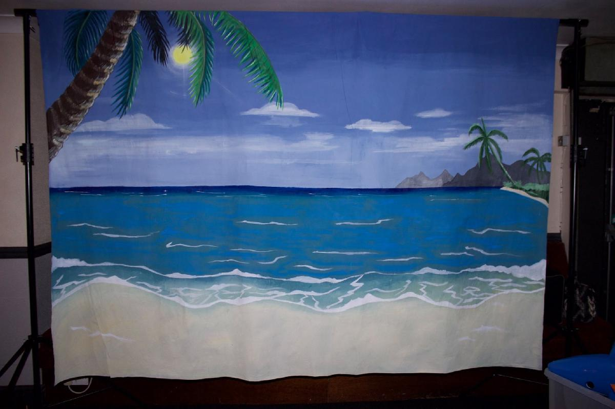 Beach Photo backdrop for hire