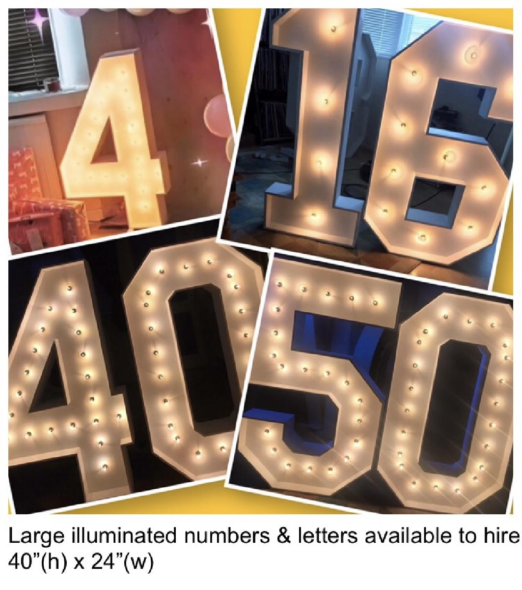 SouthSound disco Marquee Number hire for birthdays