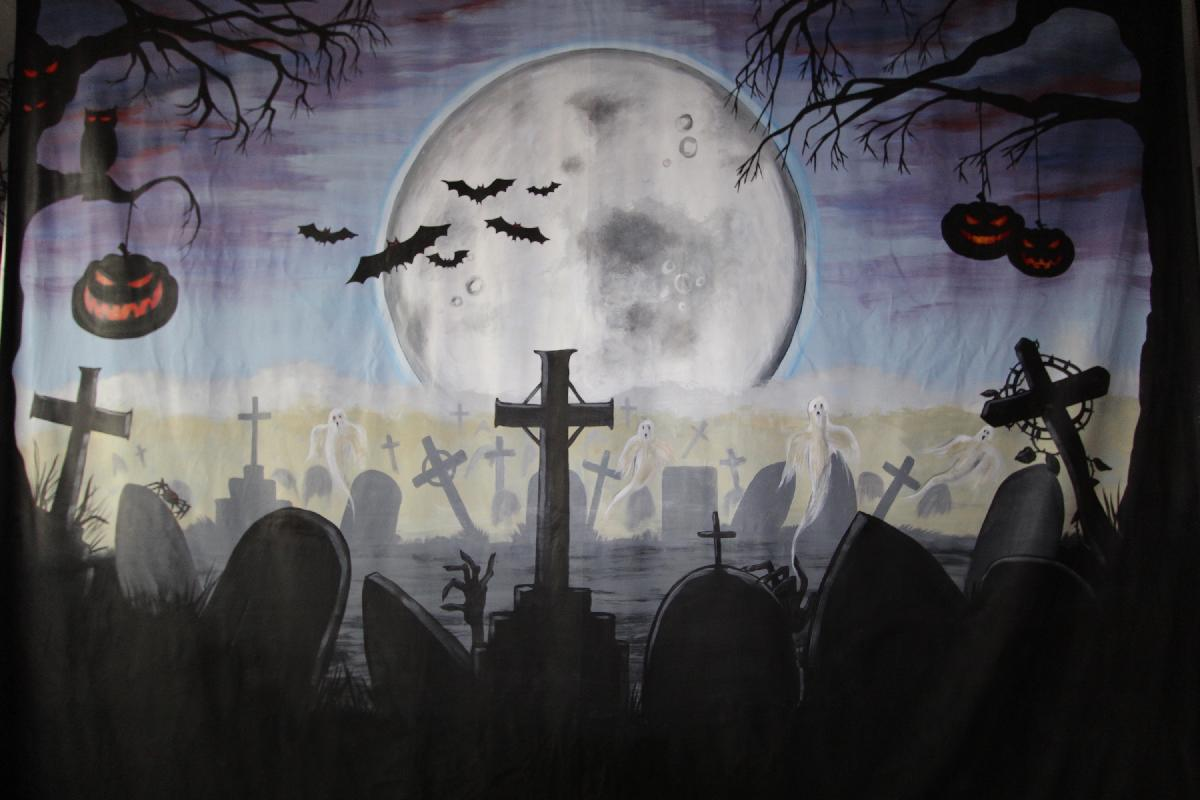 Halloween themed photo backdrop for hire