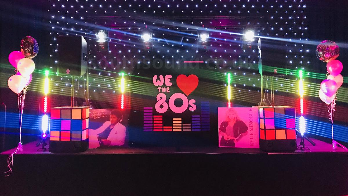 80s themed party in Kent
