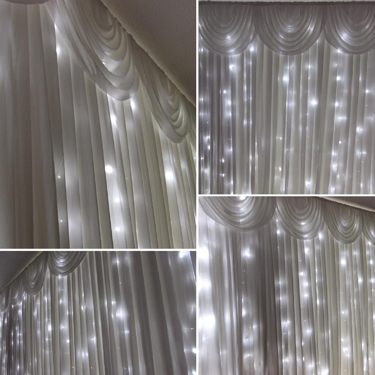 Starlit wedding backdrop available for hire for weddings in Kent.