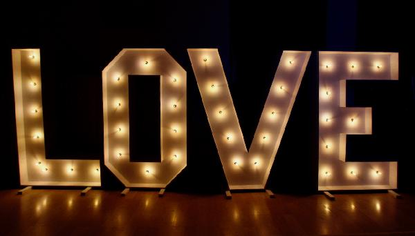 SouthSound Marquee Love Letter Hire for Weddings